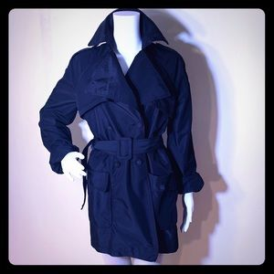 KENNETH COLE CLASSIC BLACK RAINCOAT/ Trenchcoat